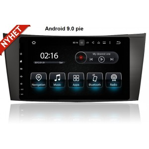 Mercedes E class W211 Android eftermontera bilstereo Navigation