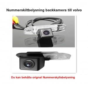 Volvo nummerskiltbelysning backkamera